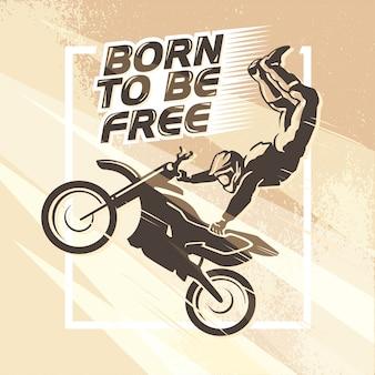 Portret motocyklisty. płaskie ilustracji wektorowych