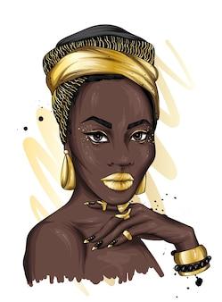 Portret pięknej kobiety.