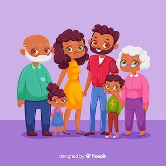 Portret rodziny kreskówki