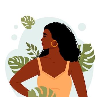 Portret udanej ilustracji młodej kobiety