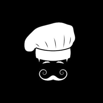 Portret włoskiego szefa kuchni z wąsami
