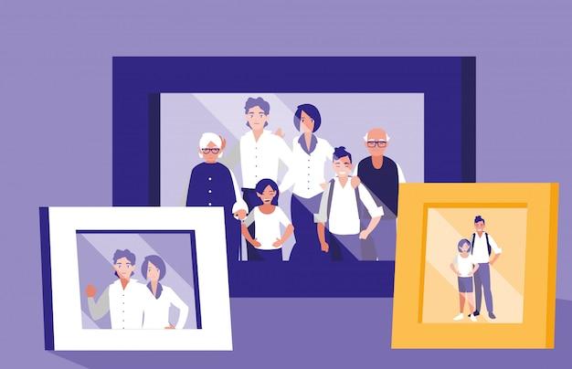 Portret ze zdjęciem członka rodziny