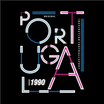 Portugalia typografia wzór t shirt