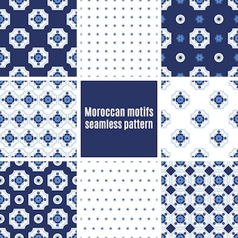 Portugalski zestaw wzorców azulejos
