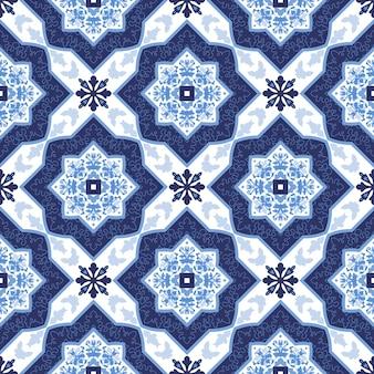 Portugalskie płytki azulejo. bez szwu wzorów.