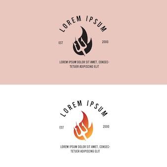 Poseidon fire hot vintage logo