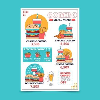 Posiłki combo - plakat