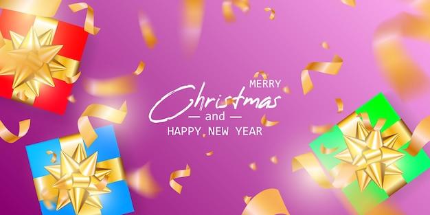 Poślubić karty świąteczne i szczęśliwego nowego roku. boże narodzenie transparent.