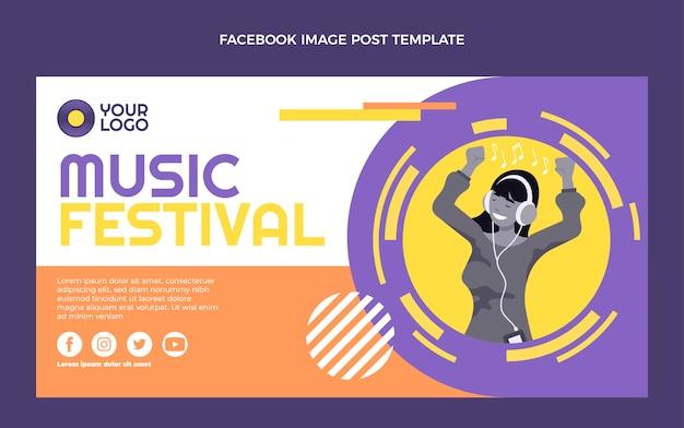 Post na facebooku na minimalnym festiwalu muzycznym