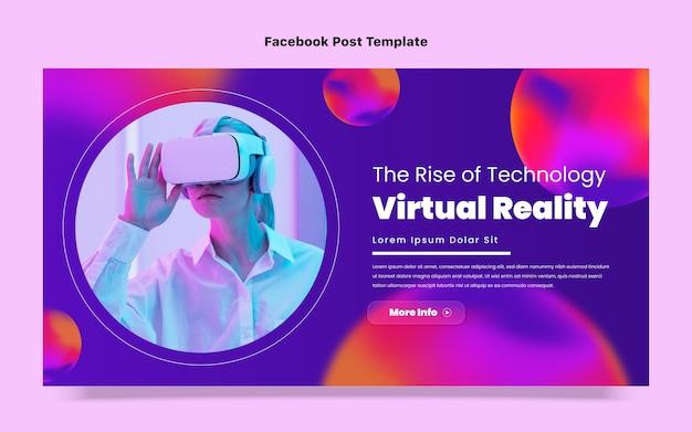 Post na facebooku o abstrakcyjnej technologii płynów