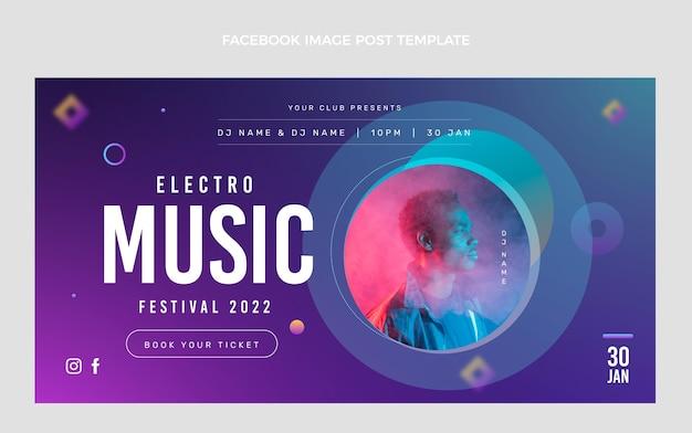 Post na facebooku z festiwalu muzyki gradientowej