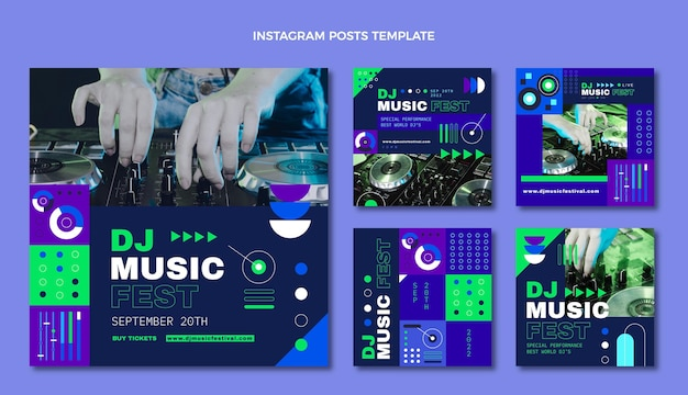Post na instagramie festiwalu muzyki płaskiej mozaiki