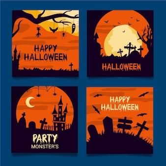 Post na instagramie ustawiony na halloween