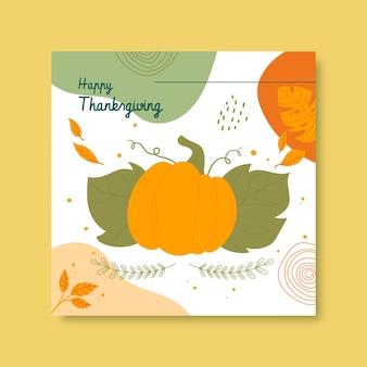 Post na instagramie z okazji święta dziękczynienia
