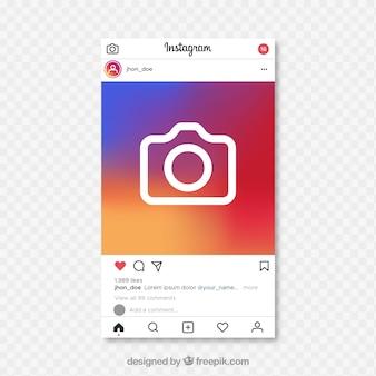 Post na instagramie z przezroczystym tłem