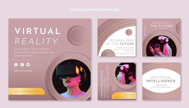 Post na instagramie z technologią tekstur gradientowych