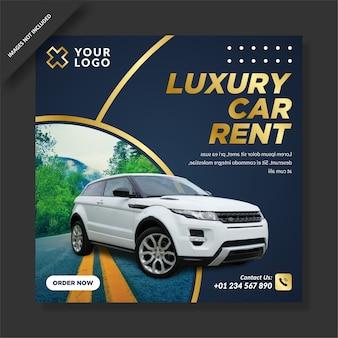Post promocyjny na instagramie wypożyczalni luksusowych samochodów