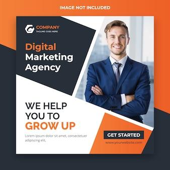 Post w mediach społecznościowych agencji marketingu cyfrowego