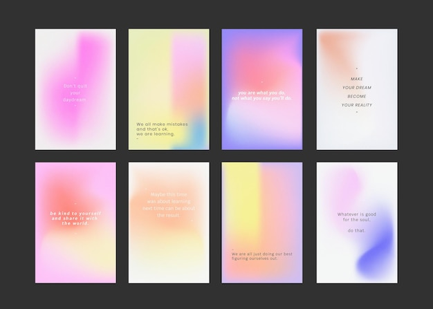 Post w mediach społecznościowych ustawia kolorowe tło