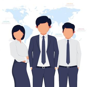 Postać awatara ludzi biznesu