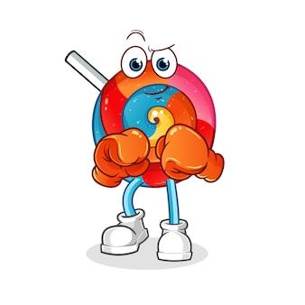 Postać boksera lollipop