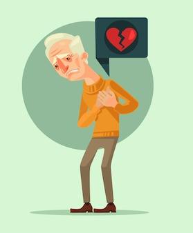 Postać dziadka z zawałem serca