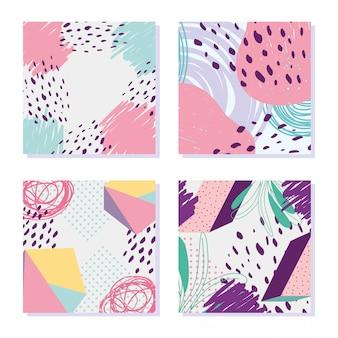 Postać geometryczna dekoracja memphis styl abstrakcyjna minimalna
