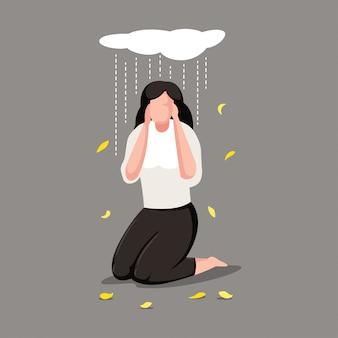 Postać kobiety z depresją