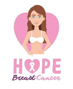 Postać kobiety z rakiem piersi