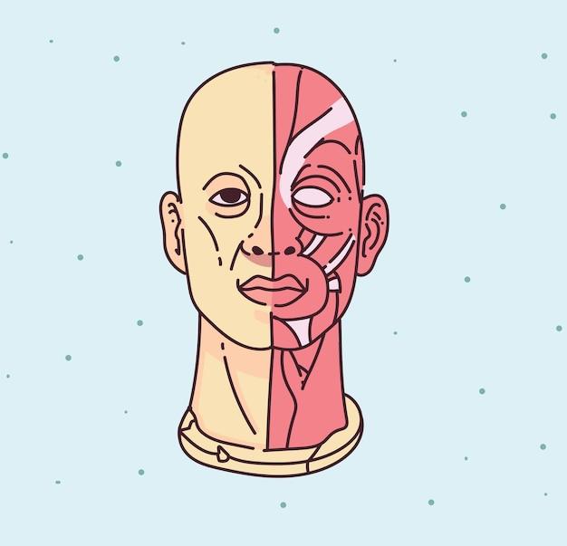 Postać ludzka doodle stylu. styl rysowania wyobraźni