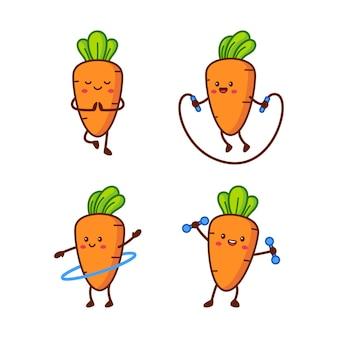 Postać marchewki fitness