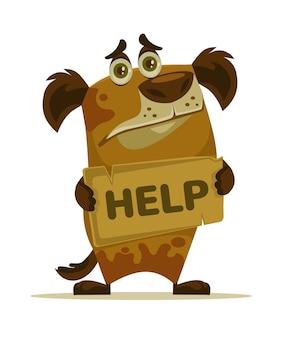 Postać psa potrzebuje domu i pomocy