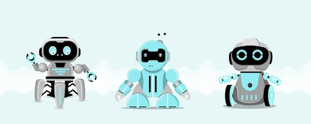 Postać robota. technologia, przyszłość. ilustracja wektorowa płaski.