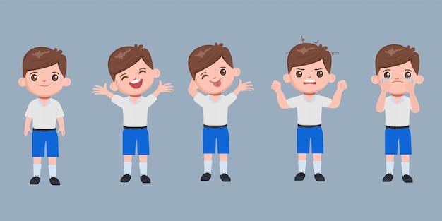 Postać ucznia w zestawie mundurek szkolny