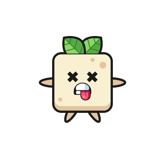 Postać uroczego tofu z martwą pozą