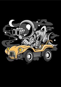 Postać z kreskówki astronauta przygoda