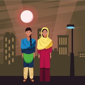 Postać z kreskówki avatar indyjskich kobiet