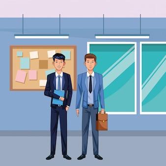 Postać z kreskówki awatar biznesmenów