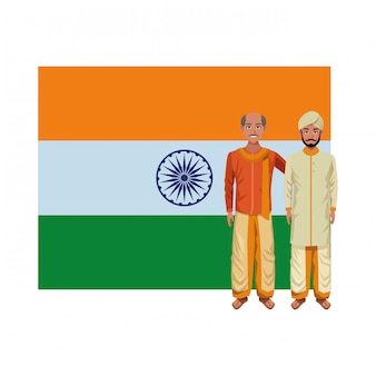 Postać z kreskówki awatar indian mężczyzn
