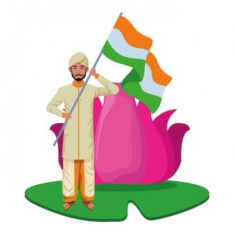 Postać z kreskówki awatar indian