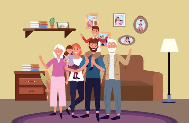 Postać z kreskówki awatar rodzinny