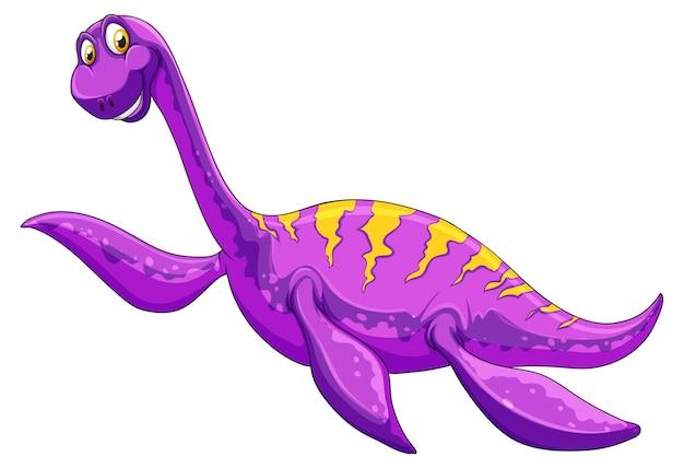 Postać z kreskówki dinozaura pliozaura