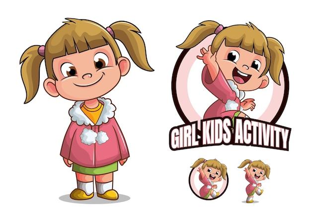 Postać z kreskówki dla dzieci dziewczyna