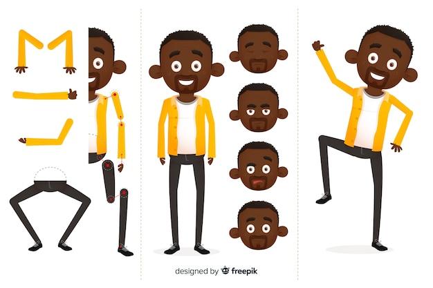 Postać z kreskówki do projektowania ruchu