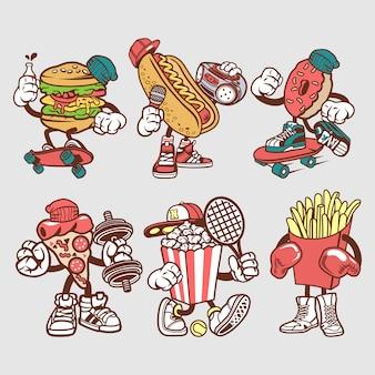 Postać z kreskówki fast foodów