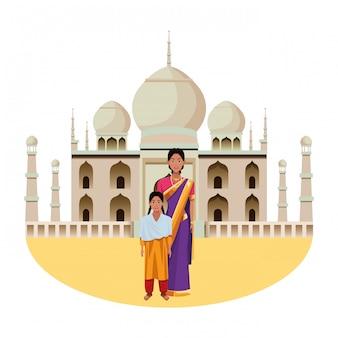 Postać z kreskówki indyjski avatar rodziny