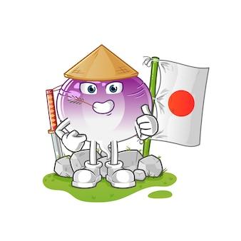 Postać Z Kreskówki Japońskiej Rzepy Premium Wektorów