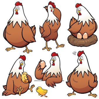 Postać z kreskówki kura