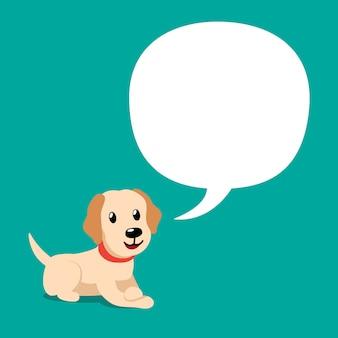 Postać z kreskówki labrador pies z dymek