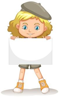 Postać z kreskówki ładna młoda dziewczyna